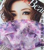 春夏季女士韓國時尚貴妃蕾絲防曬防紫外線透氣加大薄款黑口罩遮陽  卡布奇諾