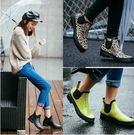 女款防滑低幫平跟膠鞋Eb12998『小美日記』