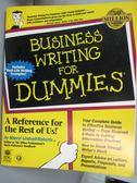 【書寶二手書T7/語言學習_HMZ】Business writing for dummies-A reference f