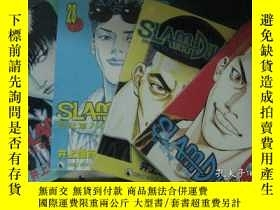二手書博民逛書店漫畫罕見SLAM DUNK男兒當入樽 中文版 第27、28、30