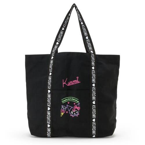 Sanrio 酷洛米時尚霓虹系列帆布手提袋★funbox★_027308