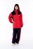 林森●M2R兩件式風雨衣,機車型,M-2,M2,黑紅