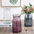 花瓶 歐式簡約玻璃花瓶水養植物器皿玻璃瓶客廳擺件鮮花插花水培幹花瓶 polygirl