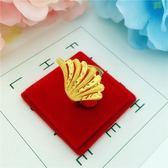 沙金戒指女 久不掉色韓版時尚個性活口戒指開口指環