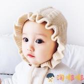 嬰兒針織帽子秋冬寶寶毛線宮廷帽兒童可愛嬰幼兒【淘嘟嘟】