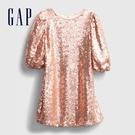 Gap女童 閃亮風格亮片圓領洋裝 617034-玫瑰金