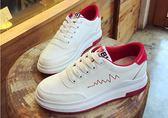 小白鞋         小白女鞋百搭韓版休閒白鞋學生厚底鬆糕加絨板鞋  瑪麗蘇