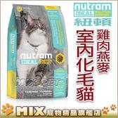 ◆MIX米克斯◆【買一送一】紐頓.I17室內化毛貓 (雞肉+燕麥)【6.8KG】