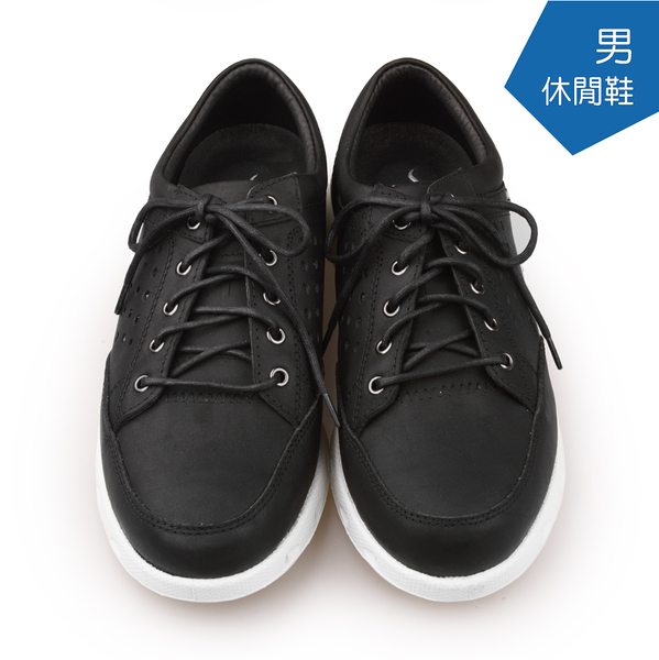 【A.MOUR 經典手工鞋】休閒鞋系列 - 黑 / 休閒鞋 / 平底鞋 / 嚴選皮革 / 柔軟透氣 / DH-5123