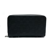 【台中米蘭站】全新品 Louis Vuitton Zippy XL 牛皮拉鍊寬版長夾/手拿包(N61254-黑)
