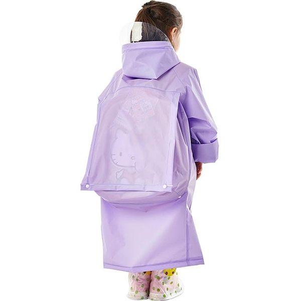 兒童男女雨衣帶可擴充書包位學生戶外防潑水長版透明大帽檐雨披特惠免運