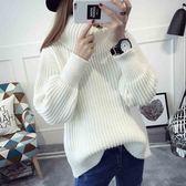 梨卡 - 高領加厚保暖寬鬆T恤上衣毛衣長袖針織衫B259