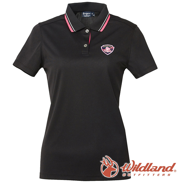 【wildland 荒野】女 COOLMAX 抗UV 排汗YOKE衣『黑色』0A61617 T恤 POLO衫 上衣 女版 短袖 排汗