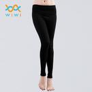 【WIWI】MIT溫灸刷毛九分發熱褲(經典黑 女S-2XL)