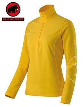 丹大戶外用品【MAMMUT】瑞士長毛象 Yukon Pull Women 女款舒適保暖長袖高領套衫 型號1040-00130-1037 黃色