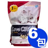 【寵物王國】新寵愛-頂級環保豆腐貓砂6L x6包免運組【天然除臭 凝結強 可沖馬桶】(010010)