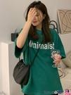 中長款T恤 五分短袖t恤女夏季2021新款韓版寬鬆中長款情侶裝小個子上衣ins潮【618 狂歡】