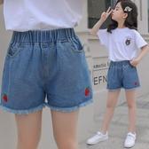 韓版牛仔短褲女童2020年夏季薄款中大童外穿百搭兒童洋氣寬鬆時髦 漾美眉韓衣