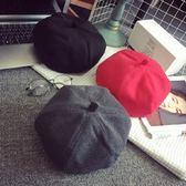 貝雷帽-秋冬百搭英倫復古毛呢女帽子2款72b11【巴黎精品】