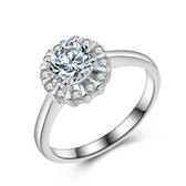 925純銀戒指 鑲鑽-高貴焦點生日情人節禮物女配件73an148【巴黎精品】