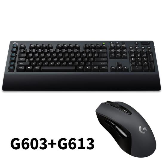 Logitech 羅技 G613無線機械式遊戲鍵盤/USB(黑)+G603無線遊戲滑鼠