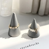戒指 兩件一套組合鋯石珍珠戒指 莎拉嘿幼