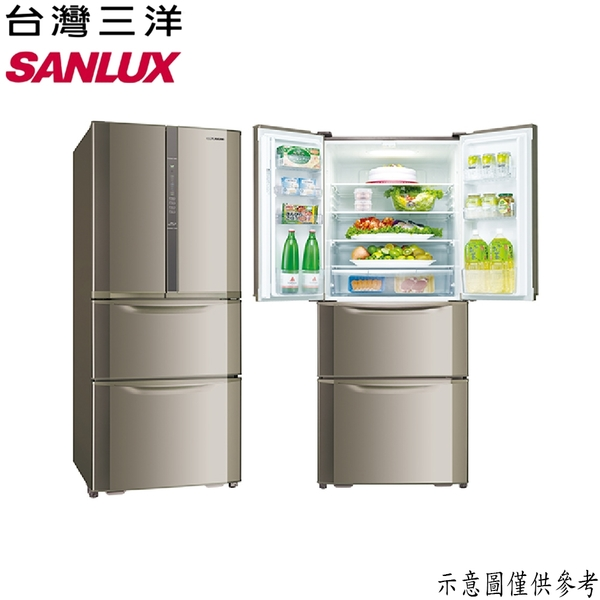 【SANLUX台灣三洋】551公升 四門下冷凍變頻冰箱 SR-C551DVF