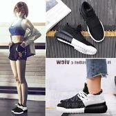 韓版運動鞋 跑步鞋平底原宿百搭情侶女鞋單鞋