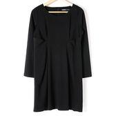 洋裝【MASTINA】簡約抓腰顯瘦洋裝-黑 10501