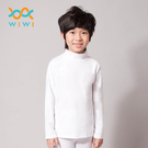 【WIWI】MIT溫灸刷毛立領發熱衣(純淨白 童70-150)