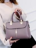 女式包包2019新款時尚大氣真皮手提包女媽媽款女士百搭單肩斜挎包