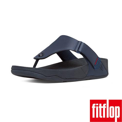 FitFlop™ TRAKK II™  LEATHER  FLIP FLOP午夜藍