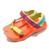 Merrell 涼鞋 Kahuna Web 橘 紅 藍 彩色 童鞋 女鞋 戶外鞋 耐磨 【ACS】 MK164949