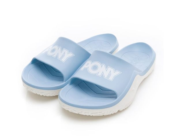 PONY 男女款水藍白涼拖鞋-NO.92U1FL07PB