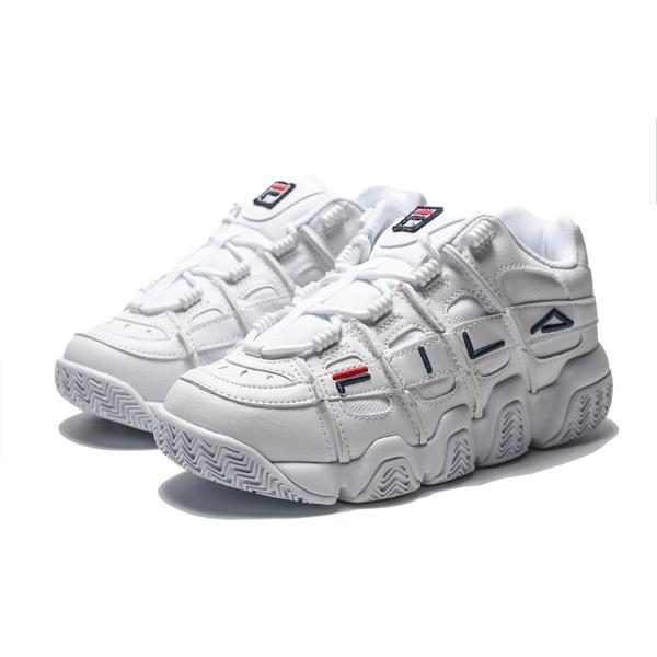 FILA BARRICADE XT 97 全白 刺繡LOGO 復古 老爹鞋 男女(布魯克林) 4B007T111