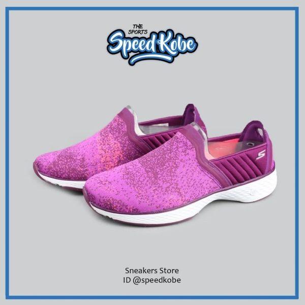 SKECHERS 健走鞋 Go Walk Sport 紫桃 馬賽克 女 14136PUR【Speedkobe】
