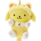 【震撼精品百貨】Pom Pom Purin_布丁狗~Sanrio ~三麗鷗 ~ 貍貓絨毛鎖圈*40402