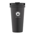 PUSH! 辦公室保溫咖啡杯冷泡茶杯沖泡杯304不銹鋼保溫杯手提帶蓋500ML E104