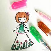 卡通可愛彩色閃光筆12色 熒光筆粉彩筆亮亮筆 亮晶晶塗鴉筆   多莉絲旗艦店
