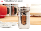 【不銹鋼調味罐】三種出料口調味瓶 不鏽鋼帶視窗調味罐