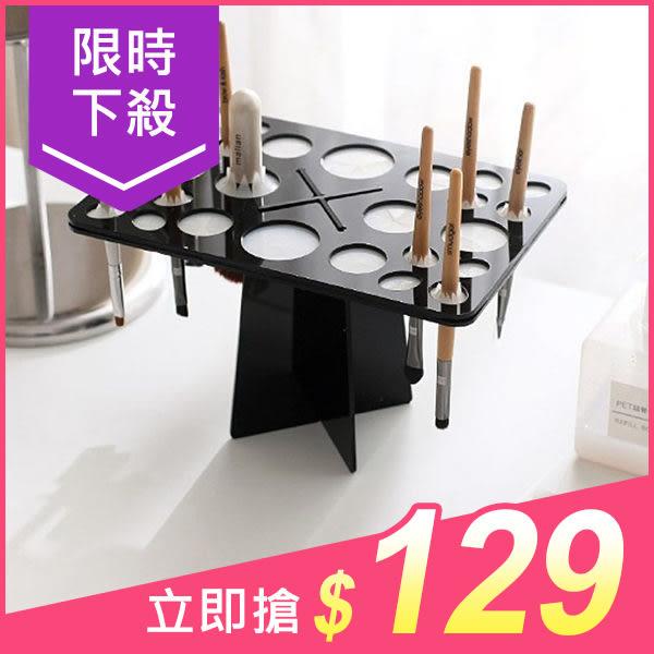 韓式彩妝刷具晾刷架組(1入) 粉色/黑色 兩色可選【小三美日】原價$149