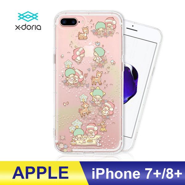 三麗鷗正版 APPLE iPhone7/8 plus  雙子星kiki&lala 立體彩繪空壓手機殼 銀河麋鹿