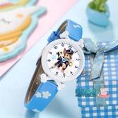 男童手錶 汪汪隊兒童手錶男童女童小學生孩子防水防摔指針式卡通兒童電子錶