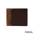 FOSSIL WARD RFID含零錢匣干邑色調雙色男夾 ML4118222