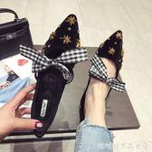 乖乖鞋女 單鞋 平底新款韓版百搭淺口蝴蝶結平底鞋尖頭娃娃鞋 糖糖日系森女屋