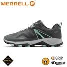 【MERRELL 美國 女 MQM FLEX 2 GORE-TEX 休閒鞋《灰/薄荷綠》】ML034958/防水鞋/健行鞋/登山
