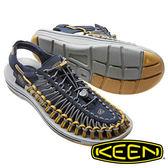 【KEEN 美國】Uneek男拉繩涼鞋『藍/灰/黃』1016890 健行.水陸兩用|健走|健行|海邊|沙灘鞋