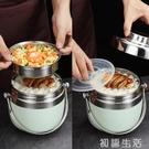 手提不銹鋼保溫提鍋飯盒雙層便當盒 創意日...