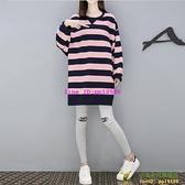 孕婦春裝套裝時尚新款兩件式春中長款t恤孕婦裝早春上衣潮【小玉米】