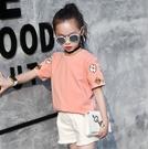 衣童趣(•‿•)韓版 中大女童 時尚個性款百搭T 休閒熱賣款刺繡 短袖圓領上衣【現貨】